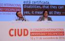 Pepa Torres, Directora Gerente de FEACEM, interviniendo en el III Congreso Universidad y Discapacidad