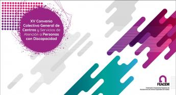 Portada de la Guía FEACEM del XV Convenio colectivo general de centros y servicios de atención a personas con discapacidad